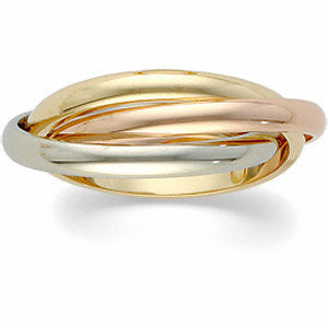 Roll RIng 18K gold and platinum