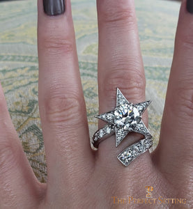Super Star Channel Comet Custom Diamond Ring