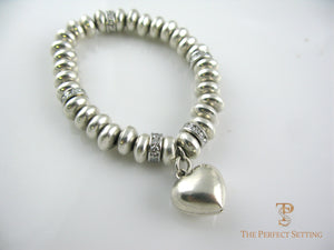 Sterling Bracelet With Heart