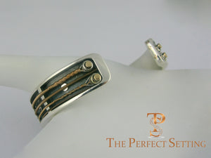 Guitar String Sterling Cuff Bracelet Jewelry