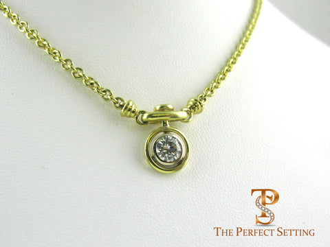 Custom Pocket Watch Style Diamond Pendant