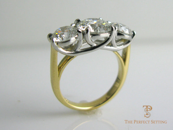 3 Three Stone Custom Diamond Ring The Perfect Setting