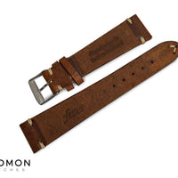 Aristo Handmade Mocha Leather Strap - 18mm
