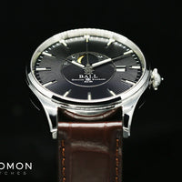 Trainmaster Moon Phase Black - Leather - Ref. NM3082D-LLJ-BK