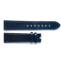 Evant Dark Blue Horween Shell Cordovan Leather Strap