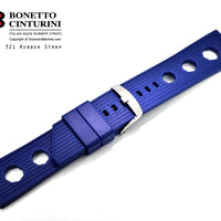 Ref. 321 Midnight Blue Tropic  Rubber Strap - 24mm