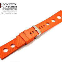 Ref. 321 Orange Tropic  Rubber Strap - 24mm