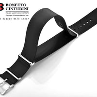 Ref. 328 Black NATO Rubber Strap - 20mm, 22mm