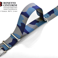 Ref. 328 Camo Blue NATO Rubber Strap - 20mm, 22mm
