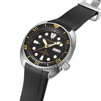"Seiko ""New"" Turtle Series (CB08) - Curved End Rubber Strap"