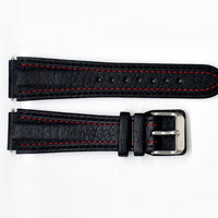 Damasko Leather Black/Red strap - 20mm