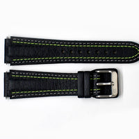Damasko Leather Black/Yellow strap - 20mm