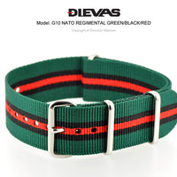 Green Black Red NATO G10 Military Nylon Strap