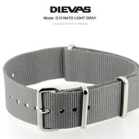 Light Gray NATO G10 Military Nylon Strap
