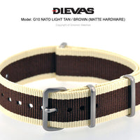 Light Tan Brown NATO G10 Military Nylon Strap (Matte)