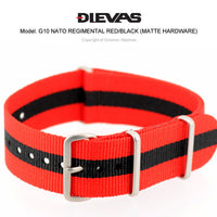 Regimental Red Black NATO G10 Military Nylon Strap (Matte)