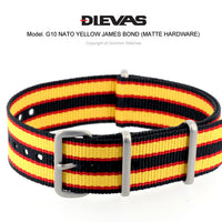 Yellow James Bond NATO G10 Military Nylon Strap (Matte)