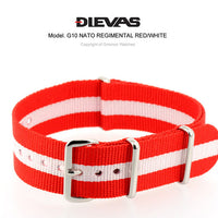 Red White NATO G10 Military Nylon Strap