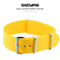 Sporty Yellow NATO G10 Military Nylon Strap