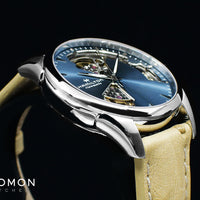 Jazzmaster Open Heart Lady Auto Blue - Leather Ref. H32215840
