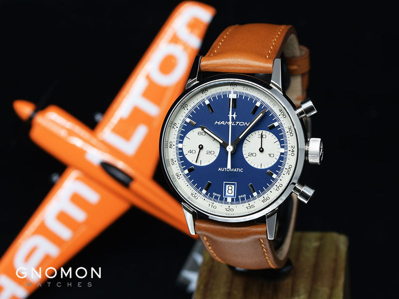 Intra Matic Chronograph Blue Ref H38416541 Gnomon Watches