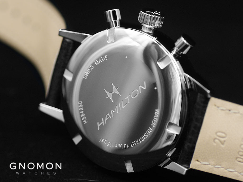 American Classic Intra-Matic Chronograph H Black - Leather Ref. H38429730