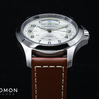 Khaki Field King Auto Silver - Leather Ref. H64455523