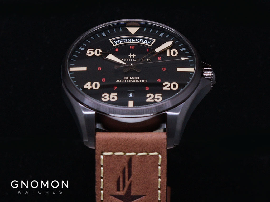 Khaki Pilot Day Date Automatic Vintage Brown - Leather Ref. H64605531