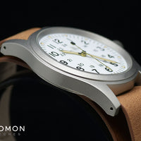Khaki Field Mechanical Handwinding White 38 - Leather Ref. H69439511