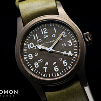 Khaki Field Mechanical Handwinding Earth Brown 38 - Leather Ref. H69449861