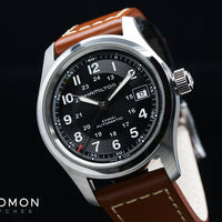Khaki Field Automatic Black 38 - Brown Leather Ref. H70455533