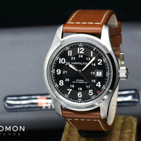 Khaki Field Automatic Black 42 - Brown Leather Ref. H70555533