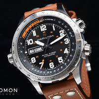 Khaki X-Wind Day Date Automatic Black - Brown Leather Ref. H77755533