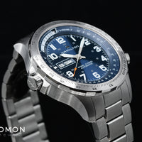 Khaki X-Wind Day Date Automatic Blue - Bracelet Ref. H77765141