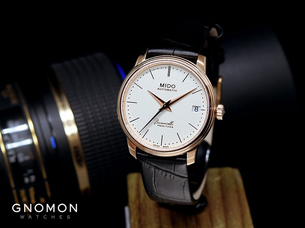 Mido Baroncelli Heritage Lady Rose Gold - Leather Ref. M027.207.36.260.00