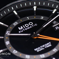 Multifort Dual Time Black 42mm Ref. M038.429.36.051.00