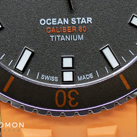 Ocean Star Captain Titanium Orange - Rubber Ref. M026.430.47.061.00