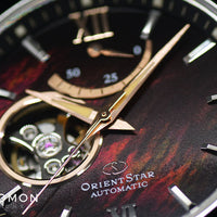 Contemporary Semi Skeleton Mother Of Pearl Burgundy Ref. RK-AT0010A