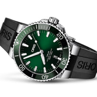 Aquis Date Green - Rubber - 43.5mm - Ref.  01 733 7730 4157-07 4 24 64EB