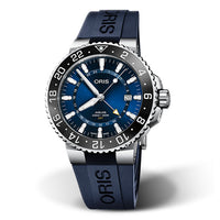 Aquis GMT Date Blue - Blue Rubber - 43.5mm - Ref. 01 798 7754 4135-07 4 24 65EB