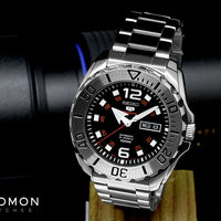 Seiko 5 Sports Mini Monster Steel Black Ref. SRPB33J1