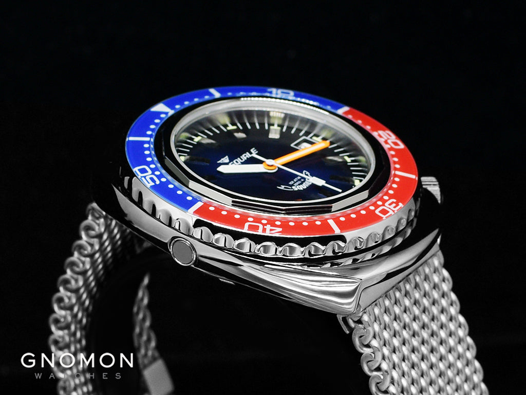Squale 101 ATMOS Blue/Red Sapphire