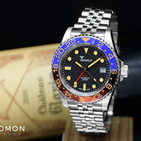 30 ATMOS Blue/Red Vintage GMT Ceramica - 40mm