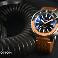 60 ATMOS - Squalematic Satin Black/Orange - 6045/SATBLKORG