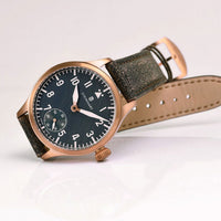 Nav B-Uhr 42 Handwind Bronze Blue Antique