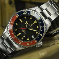 Ocean 39 Vintage GMT Premium Blue/Red Ceramic