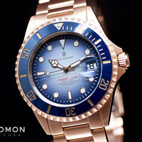 Ocean 1 Pink Gold Blue Ceramic - Limited