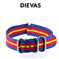 Blue Red Yellow ZULUZ Extreme Nylon Strap 20mm