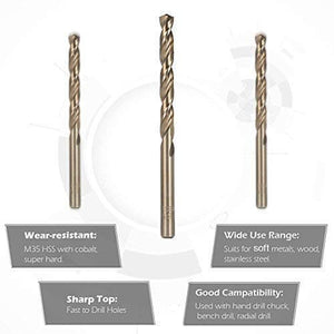 Metric M35 Cobalt Steel Twist Drill Bits