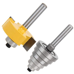 Rabbet Router Bit with 6 Bearings Set